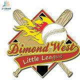 スポーツのための亜鉛合金の金属の野球の折りえりピンをカスタマイズしなさい