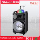 Shinco Professional беспроводной технологией Bluetooth караоке тележка АС с светодиодный индикатор