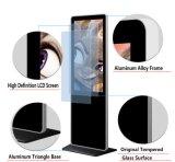Пол 65 дюймов стоя Android LCD рекламируя индикацию