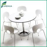 Painel compacto HPL Round superfície mate mesa de jantar