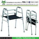 Алюминиевый гуляя ходок Rollator помощи удобоподвижности складной
