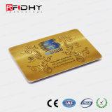 Timbre chaud Gold Impression couleur de la carte à double fréquence RFID