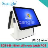15 polegadas de tela dupla em sistema One Touch POS