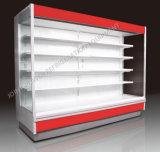 Refrigerador vertical abierto de la visualización de Multideck de la alta calidad con la cortina de aire