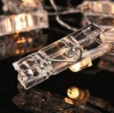 LED de 10 clips de la luz de la cadena