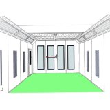 Infitech económica cabina de pintura es-701-B