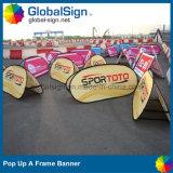 Xangai Globalsign um banner pop up da estrutura para eventos