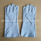 14'' проложенная серый коровы Split сварщика перчатки