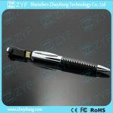革カバー金属のペンの形USBのフラッシュ駆動機構(ZYF1190)