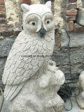 Marmorcarvings-Steineulen-Statue-Granit-Eulen-Skulptur für Home&Garden Dekoration