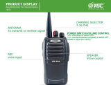 walkie-talkie bidirezionale professionale della radio 16CH di 10watt VHF/UHF