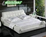 Nuevos muebles del dormitorio del diseño de la base de cuero A043