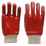 Работа с покрытием из хлопка из ПВХ перчатка с тонкими штрихами запястья