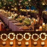 結婚式の装飾ボタン電池式の銅ストリングLEDクリスマスの照明