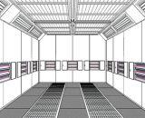 Jf 페인트는 판매를 위한 적외선 램프 살포 룸에 의하여 룸 굽기를 굽는다