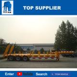 Titan 3 excavatrice 55 tonnes d'essieu Lowbed remorque bois Lowboy amovible de pliage du cou pour la vente de remorque