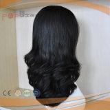 Peruca judaica cheia ondulada frouxa do cabelo humano (PPG-l-01810)