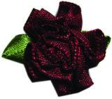 Curva da fita da flor da fita do poliéster do cetim para a decoração