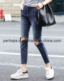 Vêtements pour femmes Pantalons en denim à haute qualité Blue Ripped Jeans
