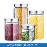 Limpar Rodeareis transparente jarra de vidro de alimentos doces do Cilindro