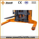 Elettrico 1.5 tonnellate cavalcano l'impilatore con la vendita calda di sollevamento 5.5m massima di altezza