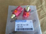 小松の掘削機の予備品、エンジン部分、赤いスイッチ(206-06-61130)