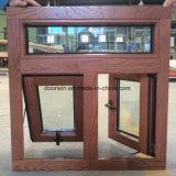 Revestimento de alumínio Janela de madeira maciça para o Canadá Janela Awind Cliente