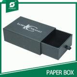 Caixa de presente preta feita sob encomenda da gaveta da impressão do logotipo