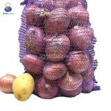 Kundenspezifische 40*60cm violette PET Raschel Beutel für Kartoffeln