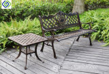 Klassisches Puder-überzogener schwarzer Gussaluminium-Garten-Patio-Prüftisch