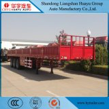 3 reboque da parede lateral da carga útil do eixo 12.5m 50t Semi para o transporte de carga do Bilk