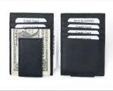 أصليّ بقية جلد مضادّة [رفيد] [كرديت كرد هولدر] محفظة مع مغنطيس مال مشبك