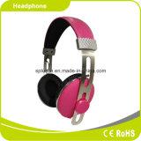 2016 좋은 품질 금속 분홍색 헤드폰