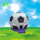 子供のための紫色の最下表面のフットボールのサッカーの膨脹可能な跳躍の警備員
