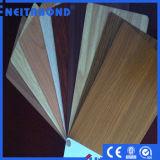 Деревянные покрытие алюминиевых композитных панелей для украшения