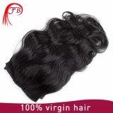 Выдвижение волос объемной волны девственницы Barzilian человеческих волос горячего сбывания Clip-on
