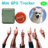 애완 동물을%s GPS+Lbs+Agps를 가진 가장 새로운 소형 GPS 추적자 또는 개인 (V-8)