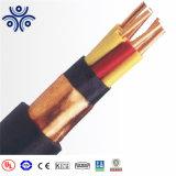 5*1,5mm2 condutores de cobre com isolamento de PVC, PVC embainhados, fita de aço de fita de cobre Cabo Controle blindado BT 450/750V