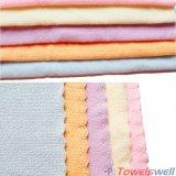 Gestempelde Schoonmakende Genaaide Handdoek Microfiber met Zigzag