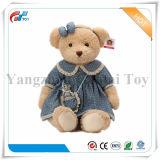 파란 테디 장난감 연약한 공상 아이 견면 벨벳 동물에 의하여 채워지는 곰