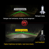 Coche nuevo ángulo de 360° de la luz H8 H1 H10 H4 H7 9005 9006 8000LM 6500K Auto LED Faros de xenón