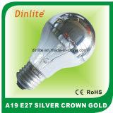 Раскаленный добела серебряный свет кроны A19