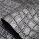 Het Dier die van de Huid van de krokodil het Synthetische Leer van de Schoen van de Zak van Pu Kunstmatige in reliëf maken