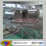 Tipo (rotativo) storta dell'acqua calda dello sterilizzatore dell'autoclave