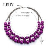 熱い方法女性のためのアクリルのチョークバルブのネックレスの宝石類のチョークバルブデザイン