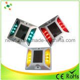 Aluminio reflectante Solar LED parpadea la luz de advertencia de espárrago de carretera