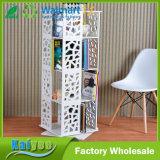 Faire pivoter en bois blanc 360 multicouche étagère rack