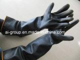 La sécurité des gants de latex naturel (noir) gant industriel pour la protection Persaonal
