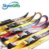 Personalizable del cuello poliéster cuerda de seguridad de la cinta clave con el regalo logotipo personalizado