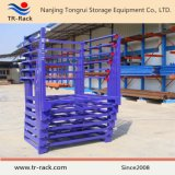 Armazenamento industrial móvel que empilha o racking